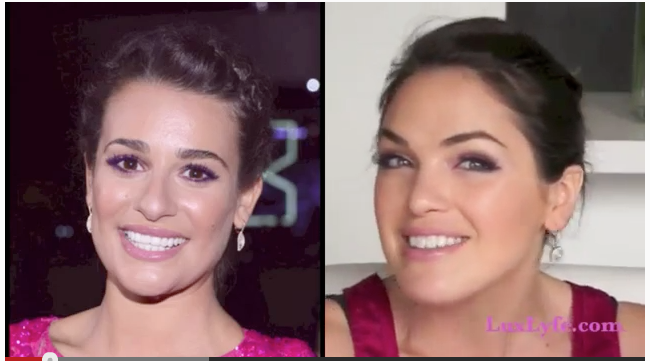 Lea Michele Makeup People's Choice Awards